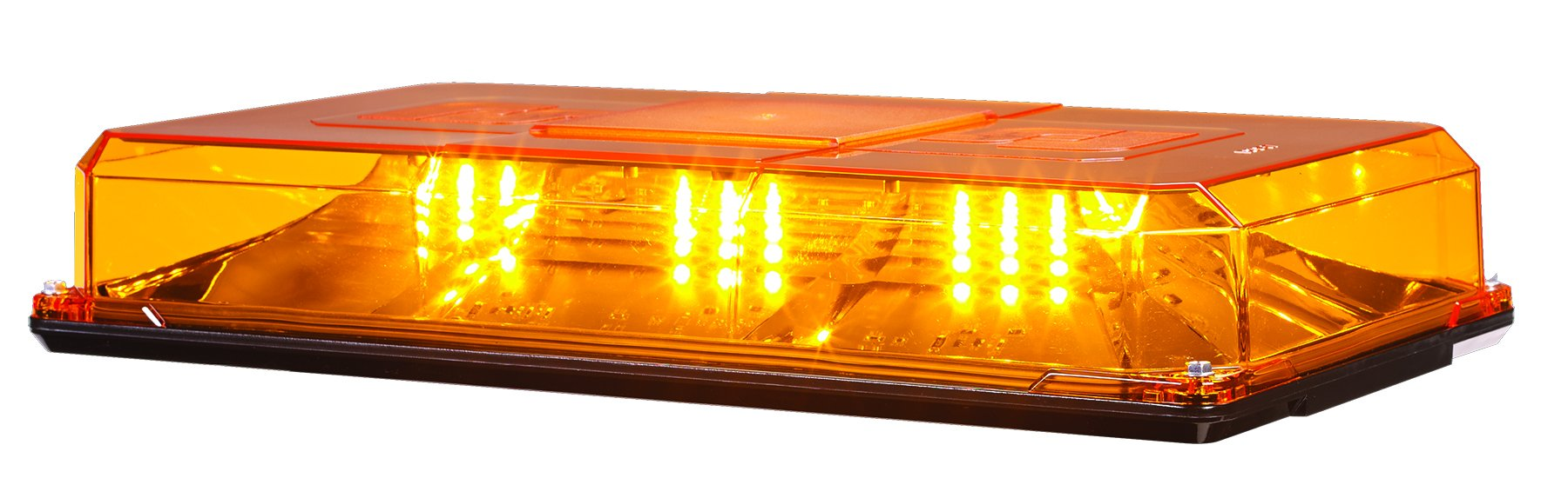 Federal Signal 454101HL-02 Amber 15.3'' x 8.4'' x 2.7'' Mini Highlighter LED Dome Light (Permanent Mount) by Federal Signal