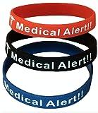 Penicillin Allergy Bracelet Medical Alert Silicone
