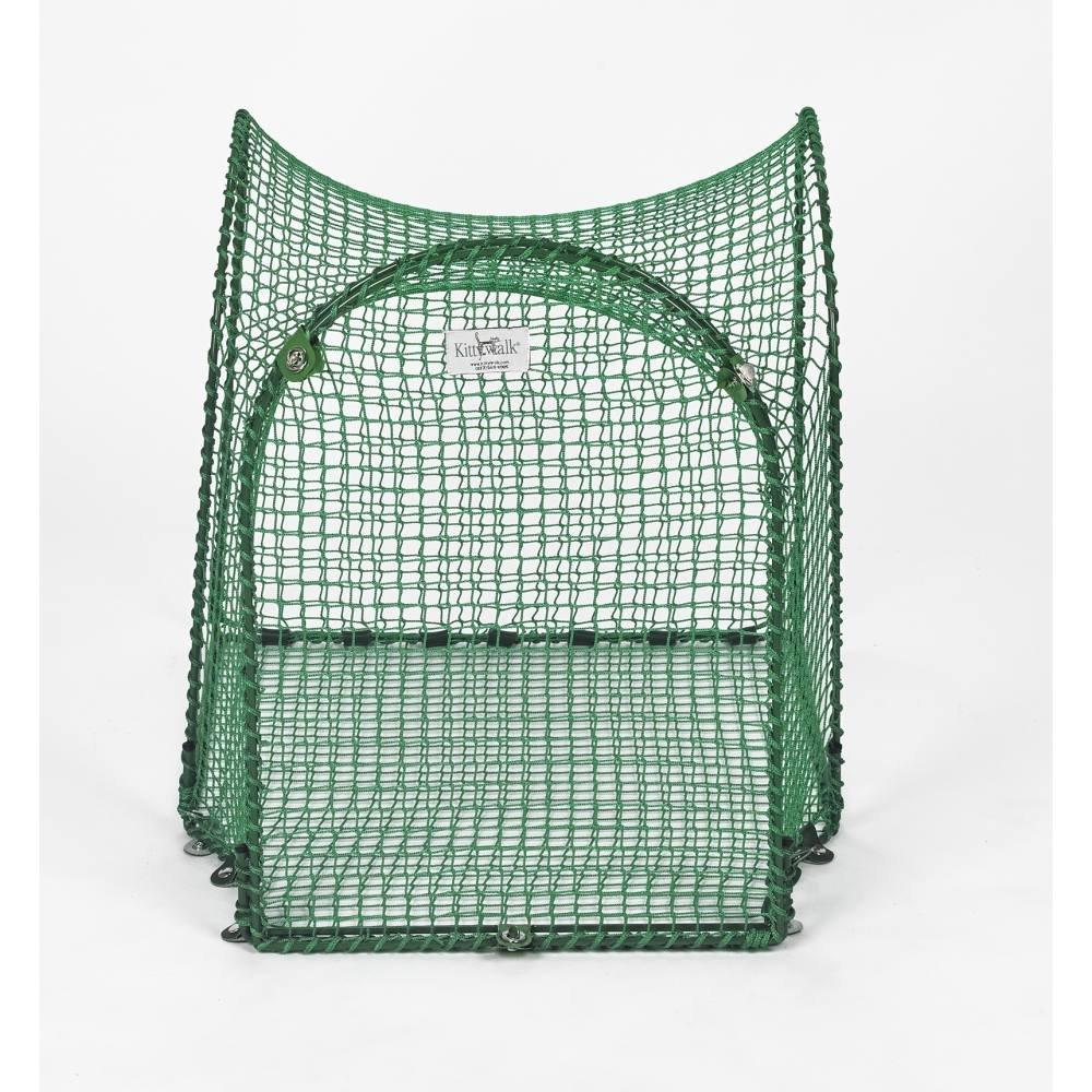 Single T-Connect Unit Outdoor Cat Enclosure - Green