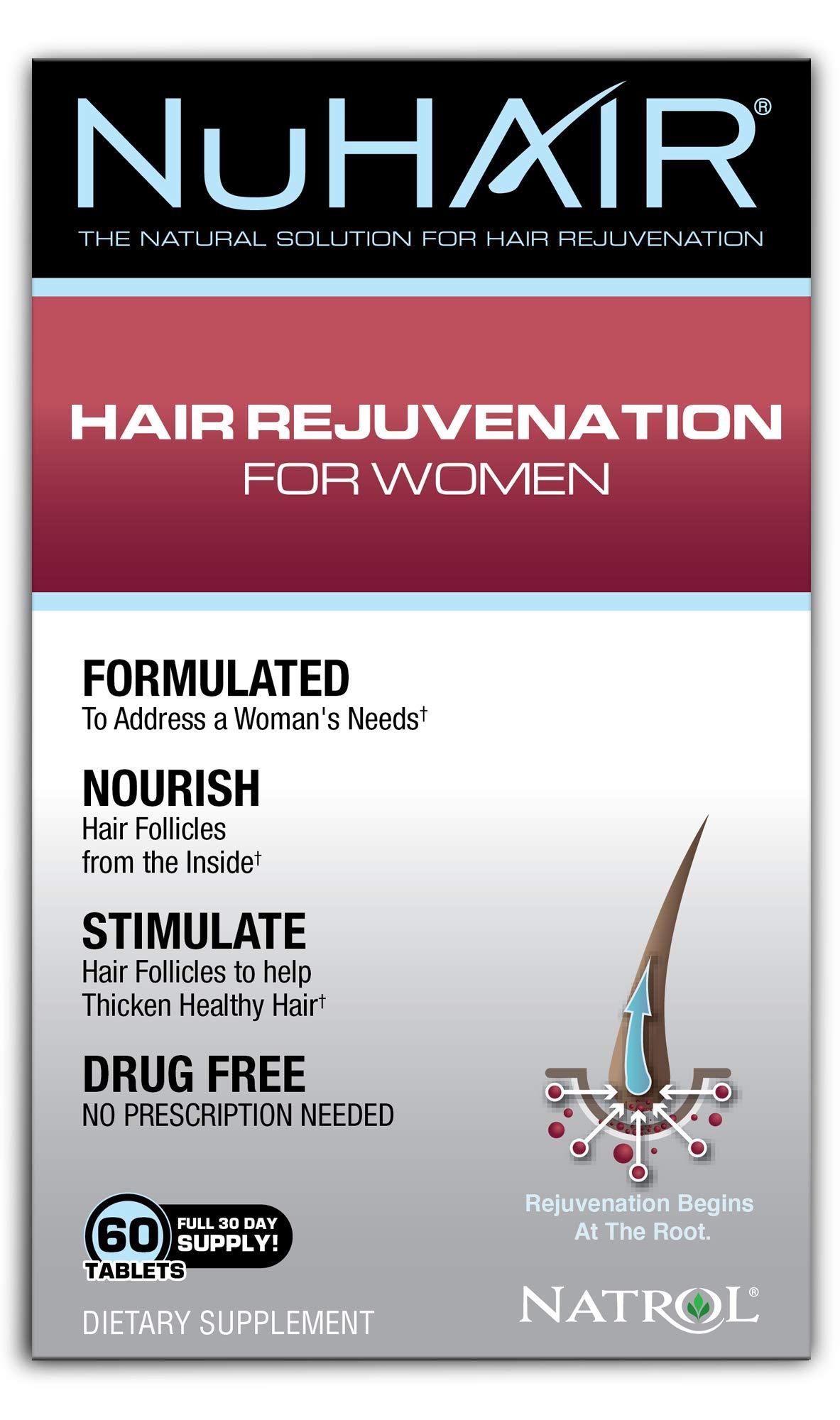 NuHair Hair Rejuvenation for Women Tablets, 60 Count