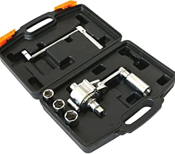 Heavy Duty Lug Nut Labor Saving Tool Torque Multiplier Socket Wrench Set With Case, 3 Sockets
