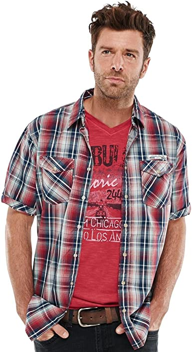 engbers Hombre Camisa Cuadros, 21067, fuego rojo Rojo Fuego XXXX-Large: Amazon.es: Ropa y accesorios