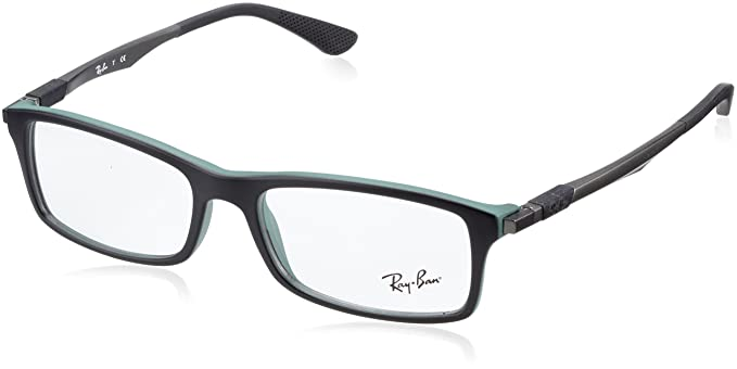 fed3caf2392 Ray-Ban Glasses 7017 5196 Black 7017 Rectangle Sunglasses  Amazon.co.uk   Clothing
