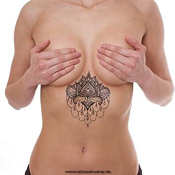 1 X Lotus Mandala Flower Tattoo Indian Mandala Lotus Flower