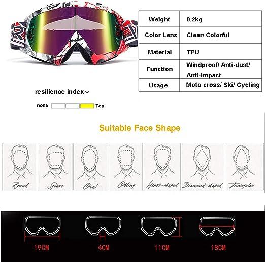 Logas Motorradbrille Cross Winddicht Skibrille Anti Fog Snowboardbrille Anti Impact Für Herren Damen Kinder Sport Freizeit
