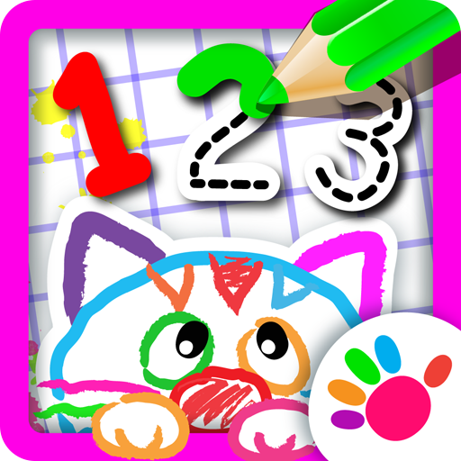 123 NUMBERS DRAWING FOR KIDS! Learn How to Draw Numbers for Kids in Kindergarten Learning Games for Preschoolers FREE! Coloring Games for Girls and Boys & Counting for Toddlers in Educational Childrens Apps and Baby Painting Game 2 3 4 5 Year Olds -