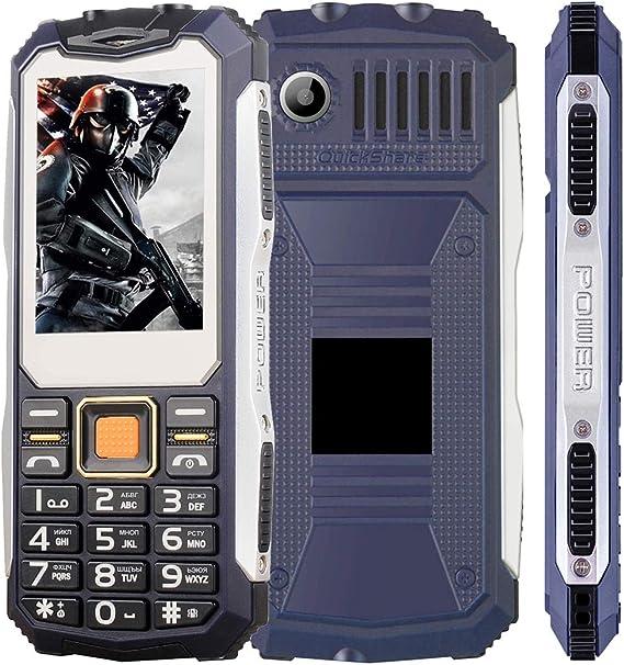 Yonis - Teléfono móvil irrompible gsm Dual SIM cámara 2G Bluetooth Flash Jack 3.5mm 2.4