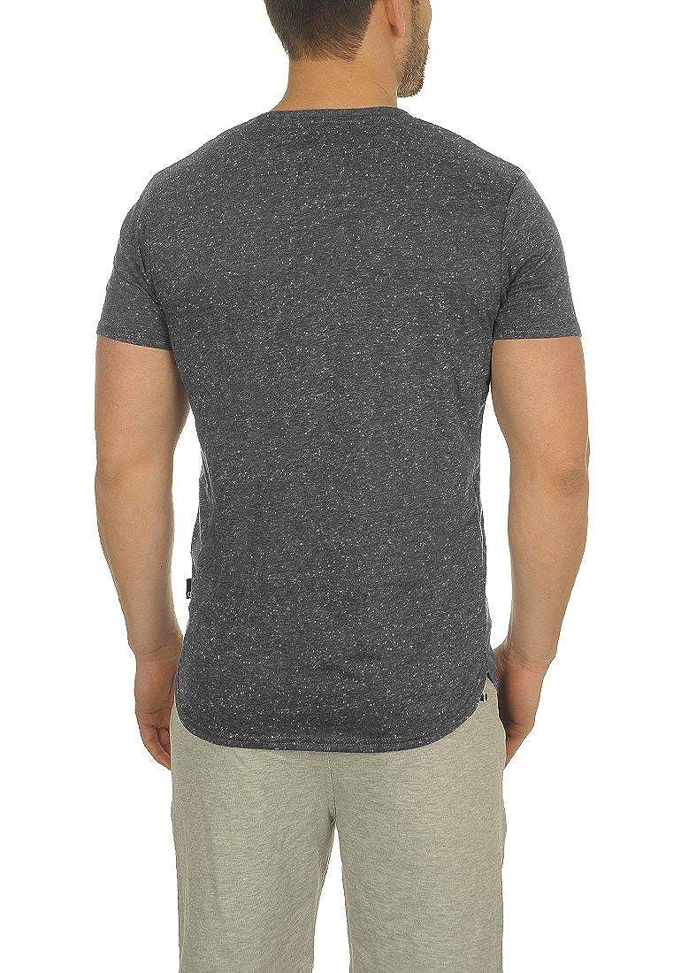 con Girocollo Shirt Solid A da Maglietta Corte Maniche Thias Uomo T fqnv1wqz4