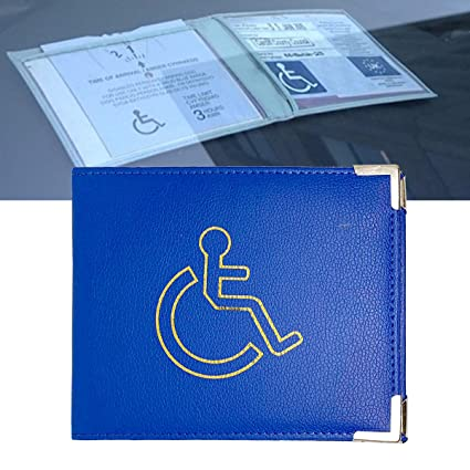 Purple Hologram-Safe Disabled Parking Permit Holder with Free Timer Clock by Blue Badge Company