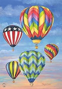 "Briarwood Lane Hot Air Balloons Summer Garden Flag 12.5"" x 18"""