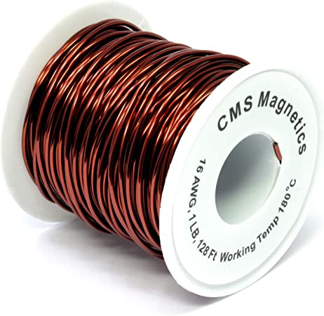 CMS Magnetics® Magnet Wire Enameled 1 Lb Spool of 18 AWG Magnet Wire