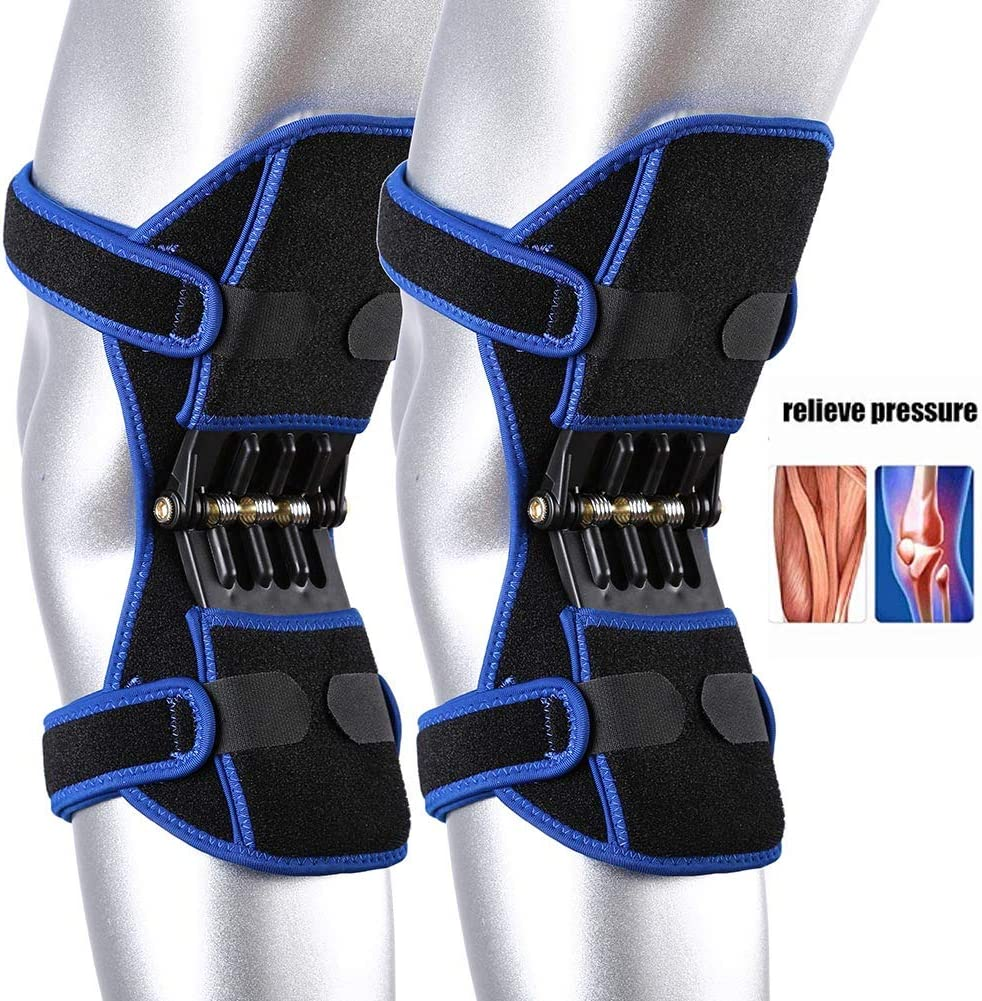 MongKok 1 Pair Knee Booster Hiking Running Fitness Knee Pad Protectors