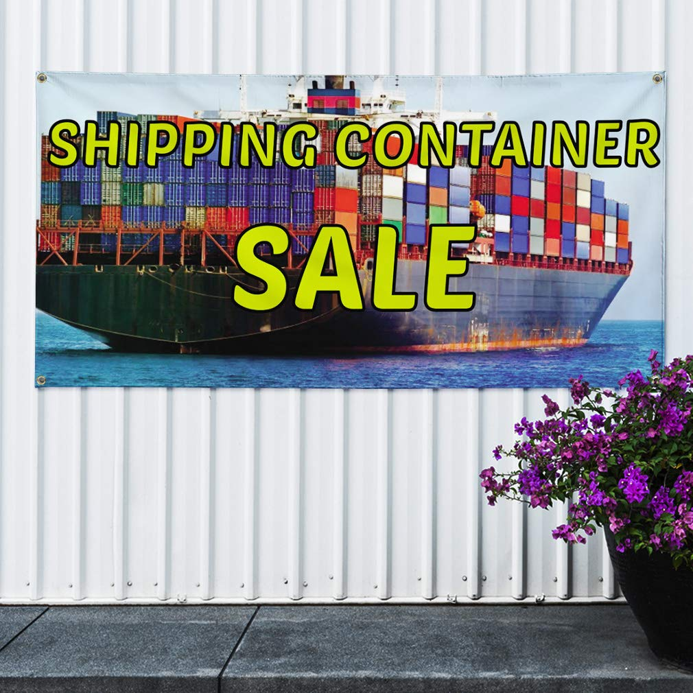 Amazon com : Vinyl Banner Sign Shipping Container Sale