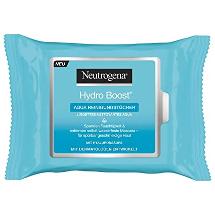 la moitié magasin vente la plus chaude Neutrogena Hydro Boost Aqua, 25 chiffons de nettoyage sac ...