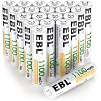 Deals on EBL 20 Pack AAA Rechargeable Batteries Ni-MH 1100mAh