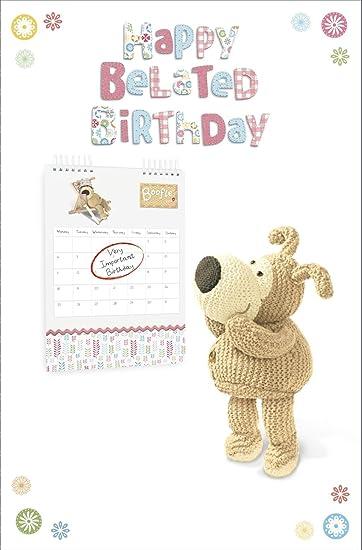 Amazon.com: Boofle Cumpleaños Happy Belated – Boofle tarjeta ...