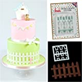 FMM Cutter Picket Fence Cake Icing Fondant Cutting Tool House Garden Decoration by FMM SUGARCRAFT
