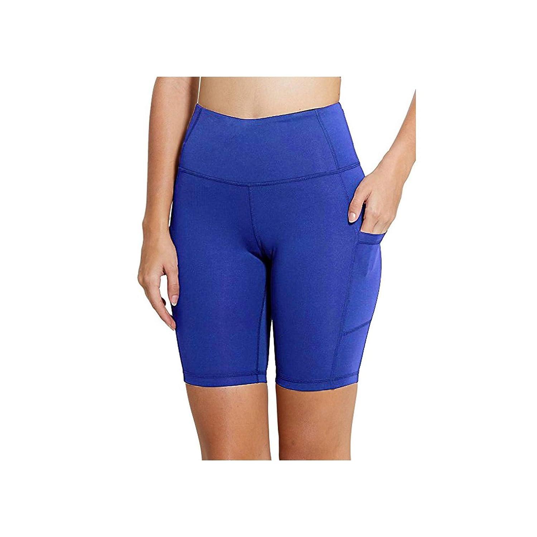 Amazon.com: cola-site Yoga Shorts-High Waist Elastic ...