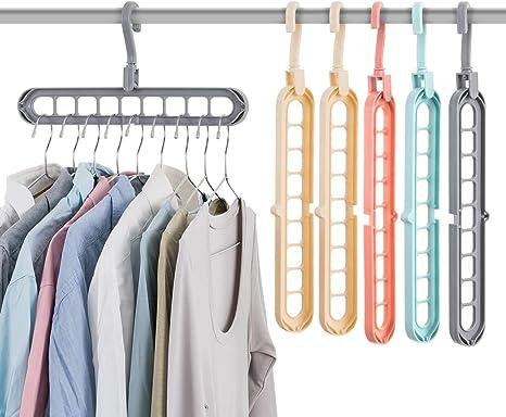 Kleiderb/ügel Mit 16 Haken Mehrstufiges Platzsparendes Design Closet Organizer Ideal F/ür Den Schrank 30,8x52,8 Cm
