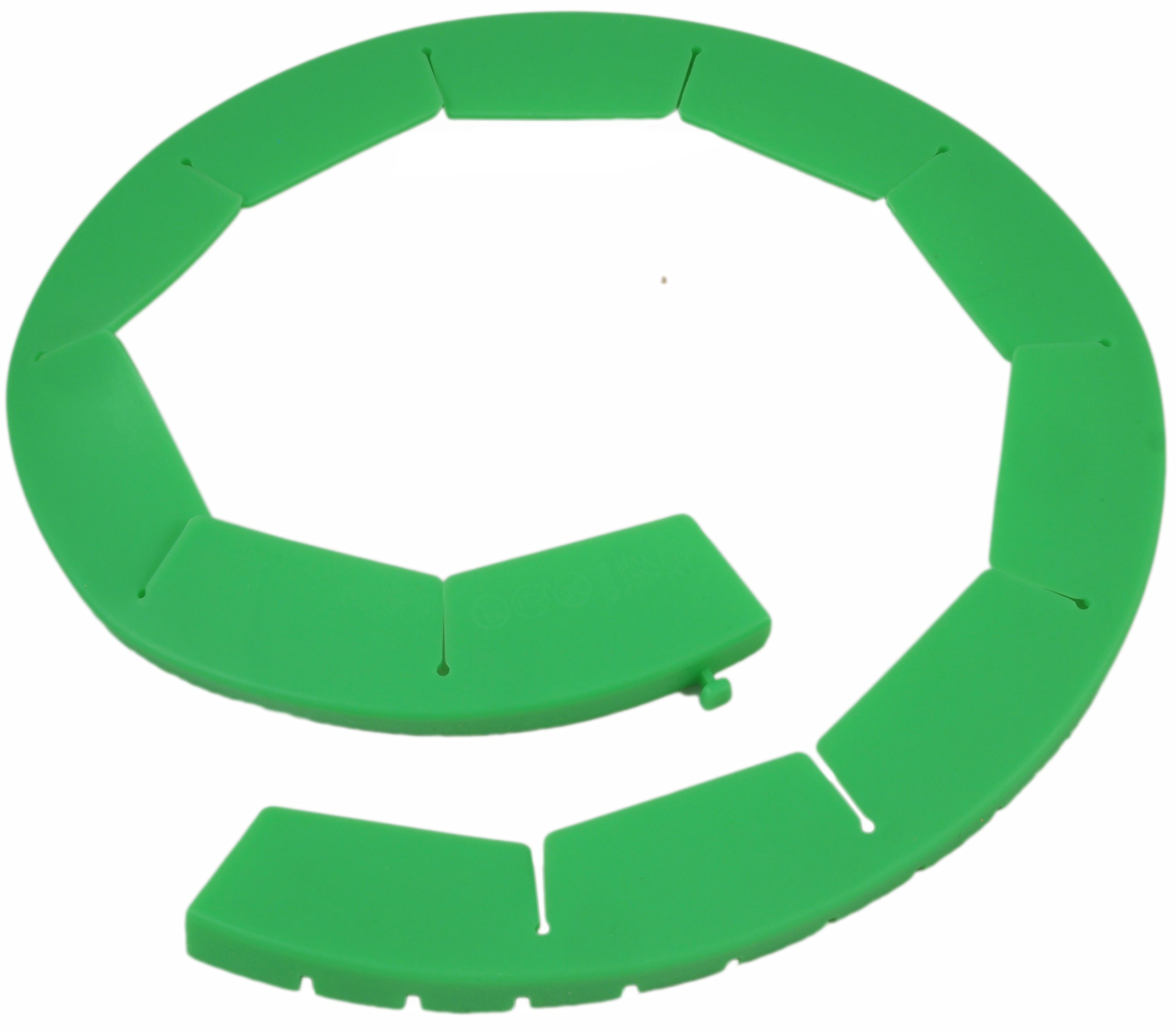 Silicone Pie Crust Shields (2 pack), Adjustable Pie Protectors, Green by Cornucopia Brands (Image #2)