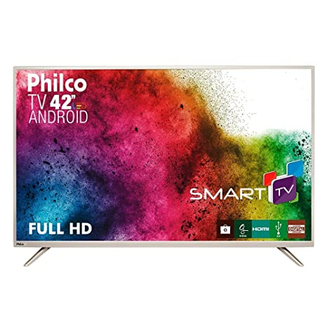 08e6fc1fb Smart TV Android LED 42 quot  Philco PH42F10DSGWAC Full HD com 2 USB 2 HDMI  DTV