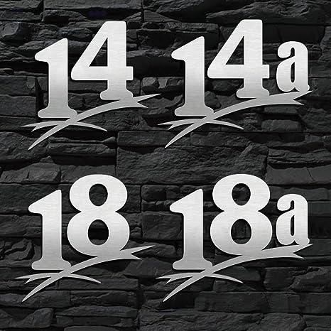 ORIGINAL ALEZZIO DESIGN - 16cm 20cm 30cm 40cm 50cm Hausnummer Edelstahl 14 LEICHTE MONTAGE T/ürschild V2A WITTERUNGSRESISTENT /… 20cm Ziffernh/öhe