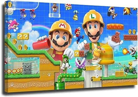Super Mario 3D World Game Canvas Print Art Home Decor Wall Art