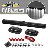 partsam 3x smoke cab light roof running cab marker amber led lights assembly for. Black Bedroom Furniture Sets. Home Design Ideas