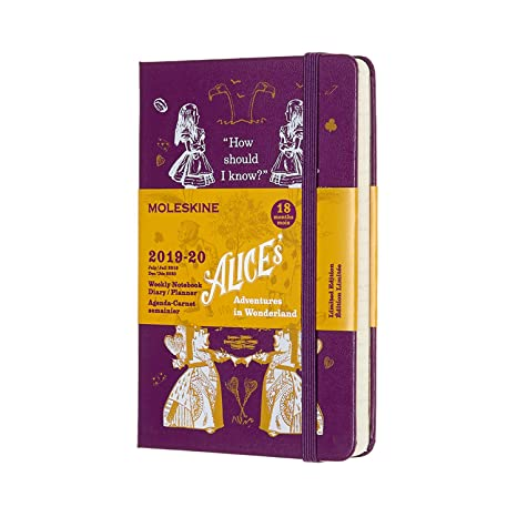 Moleskine Limited Edition Alice In Wonderland 18 Month 2019-2020 Weekly Planner, Hard Cover, Pocket (3.5