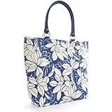 Womens Summer Floral Print Weaved Design Beach-Pool-Swim-Tote-Shopping Large Bag