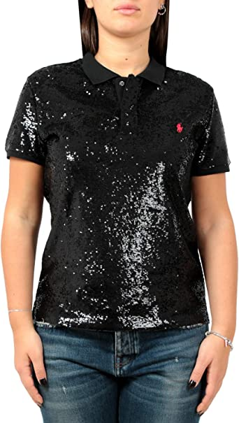 Polo Ralph Lauren Skinny fit-Short Sleeve-Knit Nero Donna S ...