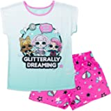 Surprise L.O.L 2-Piece Pajama Set with Slippers and Stickers Girls Pajama Set