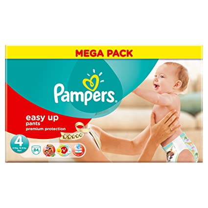 Pampers - Easy Up - Pañales - Talla 4 (8-15 kg) -