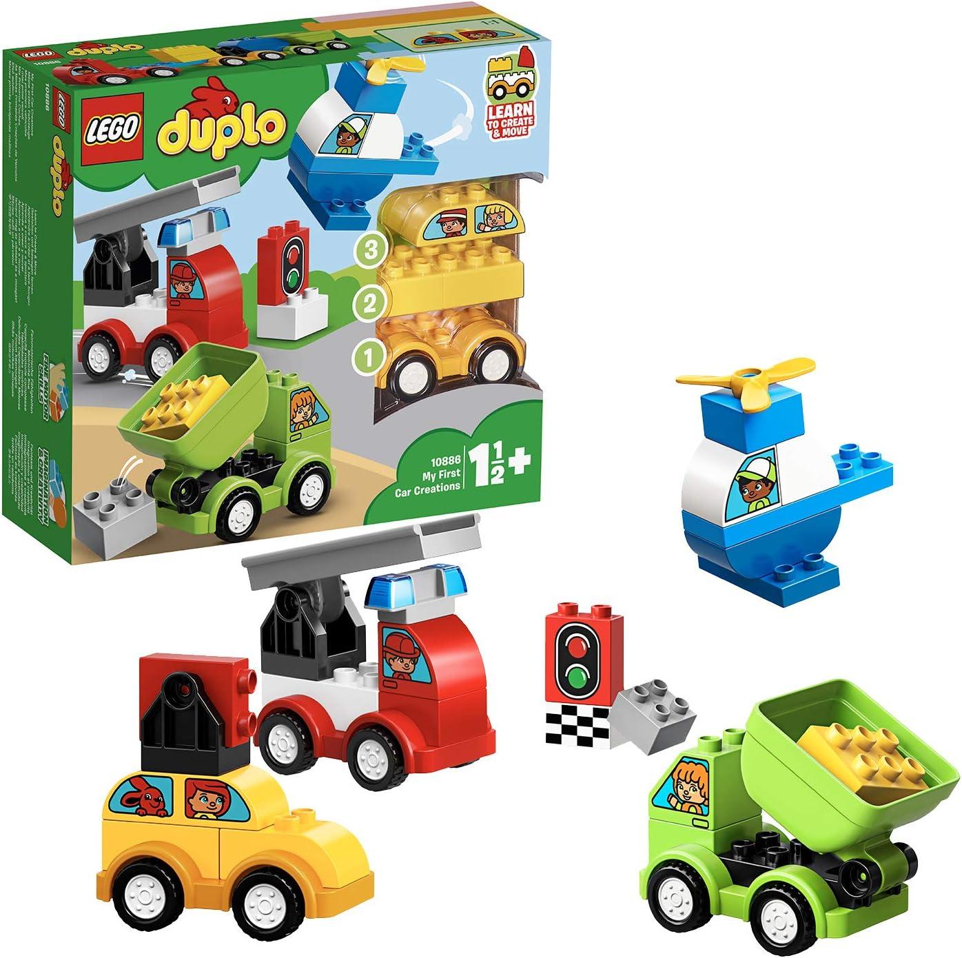 LEGO DUPLO My First - Mis Primeros Coches, Juguete de Construcción de 1 a 2 años (10886) , color, modelo surtido