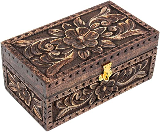 Día de Navidad regalos joyería joyero caja de madera cuadrada ...