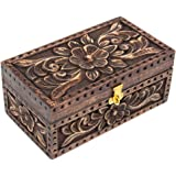Handmade Wooden Keepsake Box, 8 x 4.5 x 3.5 inches