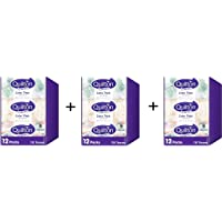Quilton 3 Ply Extra Thick Facial Tissues (Hypo-allergenic, 110 Sheets per Box, 12 Box per case), 1320 Count (36 Packs)