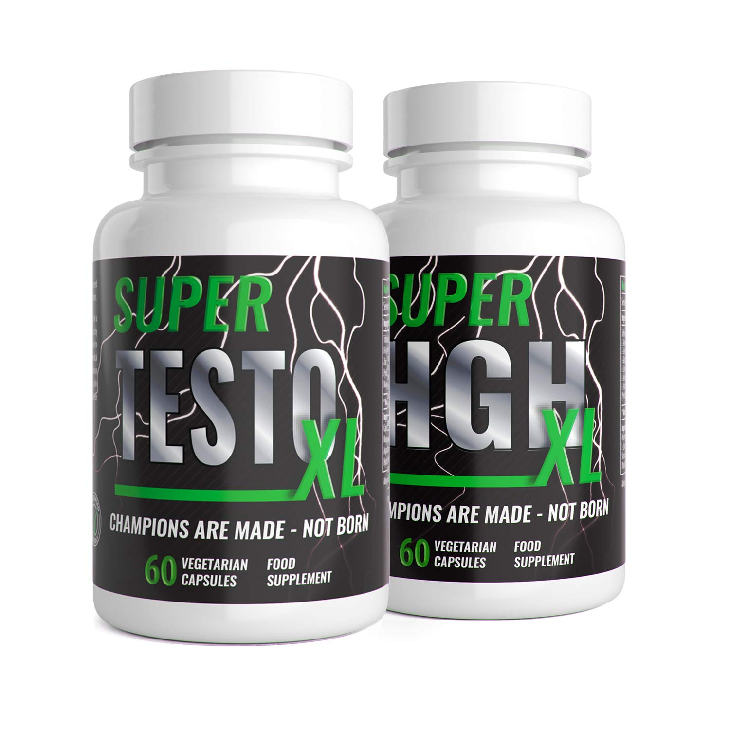 f0014fd1639 Super Testo XL & Super HGH XL - 1 Month Supply - Supplement Bundle - 60  Capsules - UK Manufactured by Natural Answers: Amazon.co.uk: Health &  Personal Care