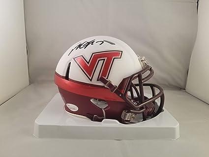 9a9e52862bb Amazon.com  Michael Vick Autographed Signed Mini Helmet Virginia ...