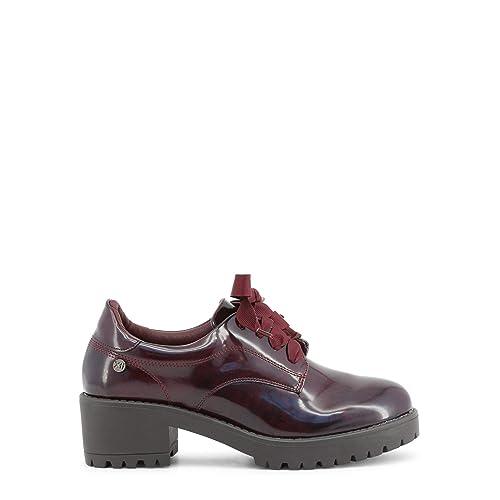 11cc663ff7 XTI Zapato de Mujer con Tacon con Cierre de Cordones Negro  Amazon ...