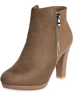 CASPAR Damen Sandalen Sandaletten Zehentrenner mit funkelnder Blume und Strass Steinen - viele Farben - SSA002, Farbe:gold;Größe:41