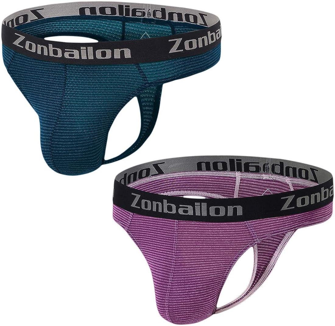 ZONBAILON Men's Thong Low Rise Stretch Underpant Sexy Comfortable