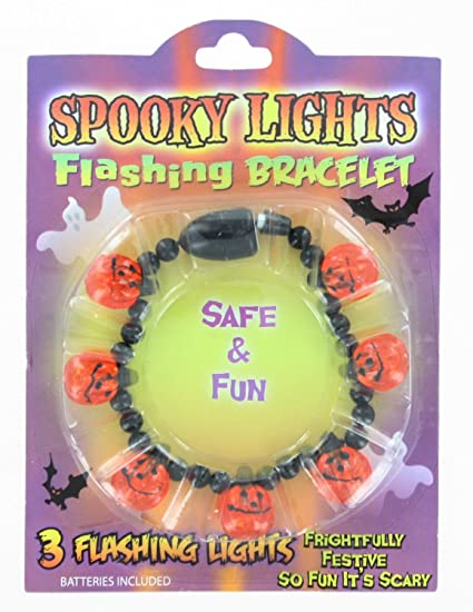 Halloween Spooky Flashing Bracelets 3pk Fun Safe Favor Gift Birthday
