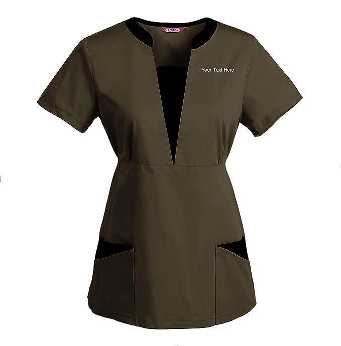 TAILORS Personalizado Personalizable Bordado Blusa médica de ...