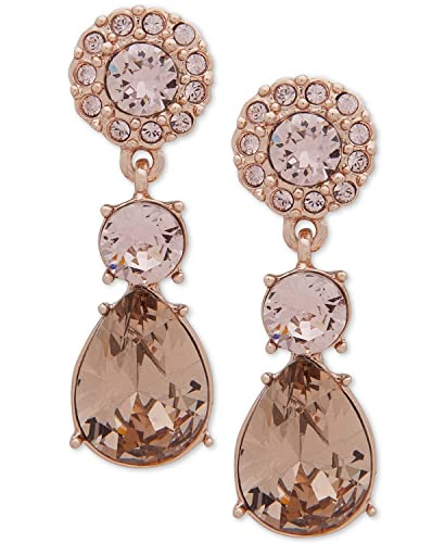 cd2429731 Image Unavailable. Image not available for. Color: Givenchy Rose Gold-Tone  Pink Crystal Drop Earrings