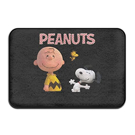 Amazon.com: Snoopy y Charlie Brown Maní Felpudo y perro Mat ...
