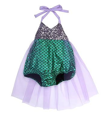 71ce18a3593ba0 Baby Girls kids Little Mermaid Sequins Bikini Suit Swimsuit Costume  Beachwear , Style 1, 0