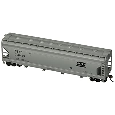 Bachmann Industries CSX #256439 ACF 56' Center-Flow Hopper (HO Scale Train): Toys & Games