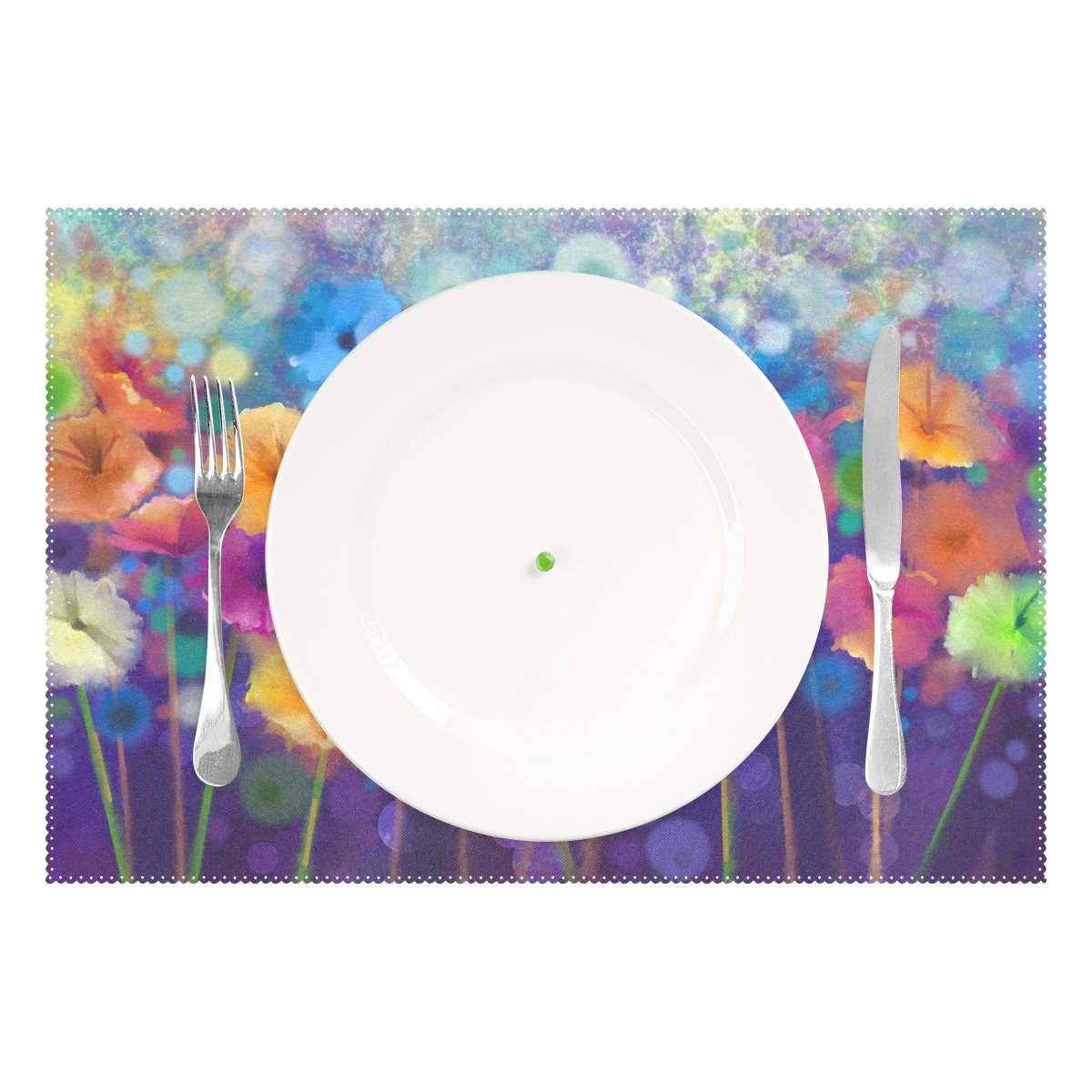 Floral Flower Heat-Resistant Washable Table Place Mats for Kitchen Dining Table Decoration Naanle Sunflower Placemat Set of 6