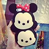 New 3D Cartoon Two Head Mickey Minnie Mouse Protective Soft Silicone back case cover for IPHONE 5 /IPHONE 5S